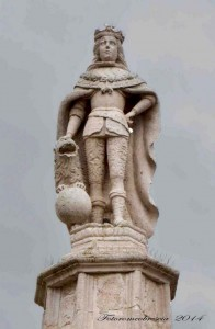 Statua di Carlo II Asburgo Spagna.