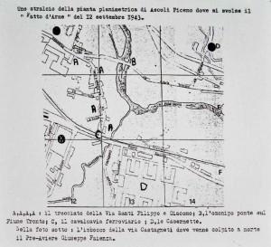 """la pianta planimetrica è tratta da """"Il fatto d'arme di Ascoli Piceno del 12 settembre 1943"""" di Severino Carlucci"""