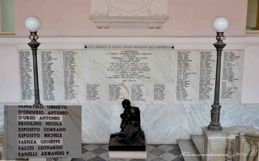 Provincia di Foggia - Lapide commemorativa caduti