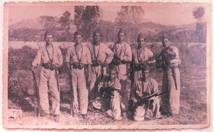 Pre-avieri torremaggioresi ad Ascoli Piceno, il primo a sinistra è Giuseppe Faenza
