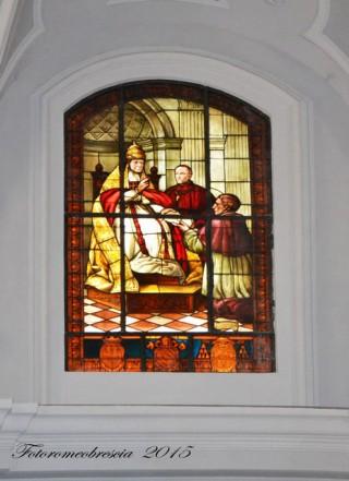 Basilica Cattedrale – vetrata a mosaico celebrativa con stemmi 1