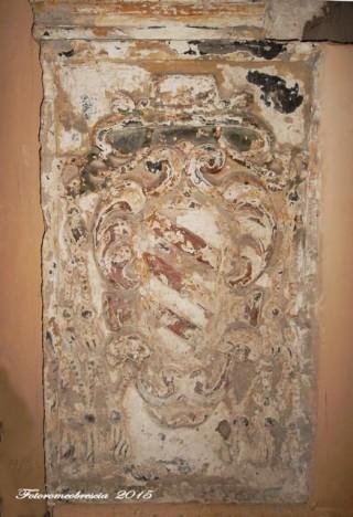 Chiesa della SS. Annunziata – Particolare dello stemma di mons. Antonio de' Sangro