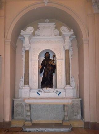 Chiesa della SS. Annunziata – Altare dedicato a S. Francesco di Paola.
