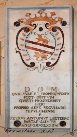 Chiesa di S. M. delle Grazie – epigrafe funeraria con stemma della famiglia Lettieri