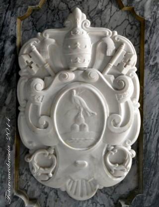 Chiesa di San Giovanni Battista – Stemma del Pontefice Pio XII (Eugenio Pacelli)